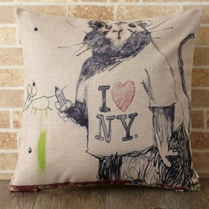 【 Jubilee London x Banksy 】Cushion -Mouse in New York BANKSY-