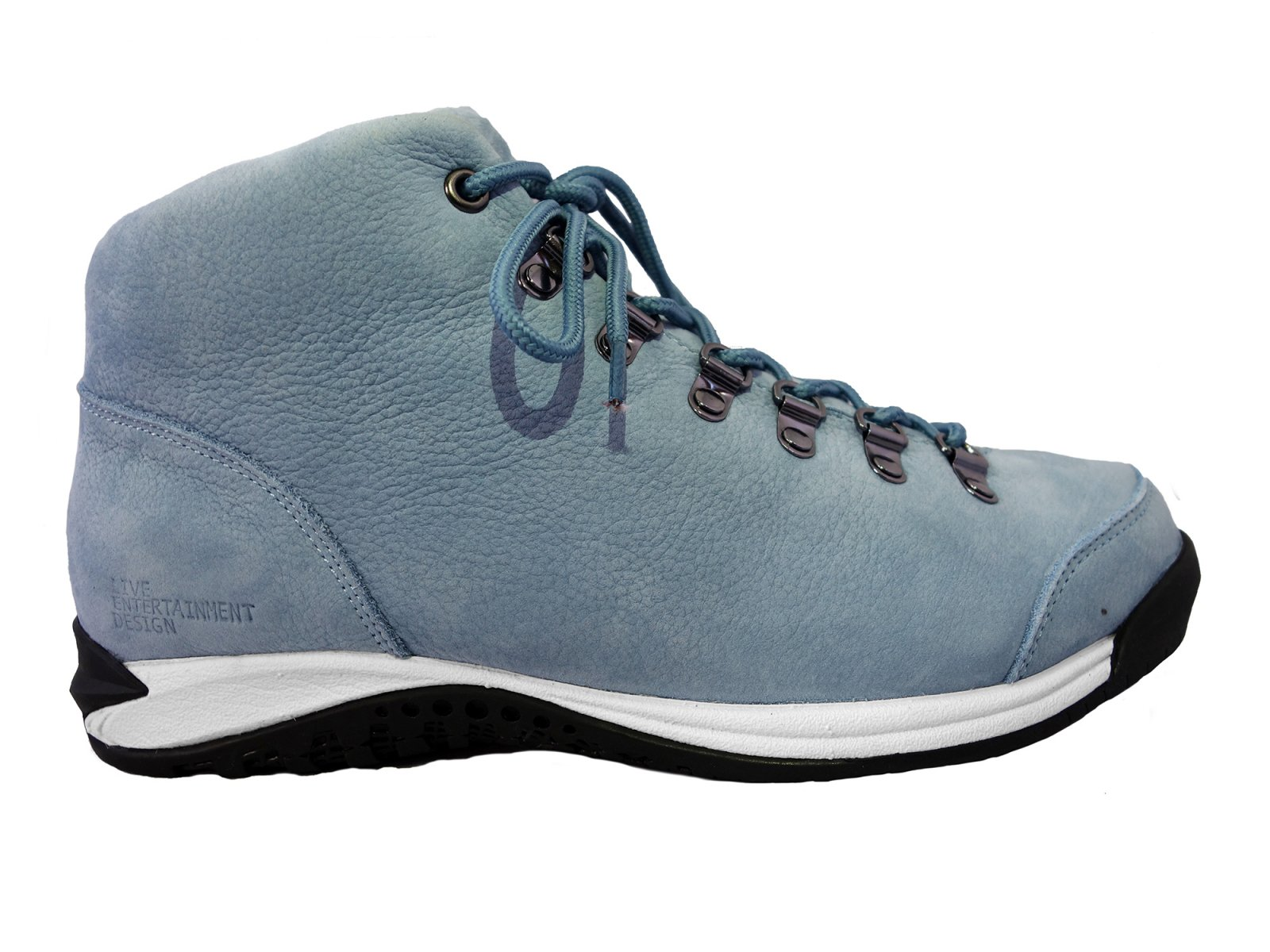 【LIVE ENTERTAINMENT DESIGN】Vibram sneaker boots  (Shrink nubuck leather Light blue)