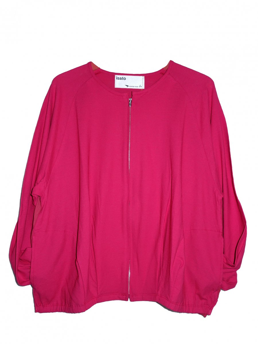 【ISATO DESIGN WORKS】Side Slit Cut Blouson (Shocking Pink)