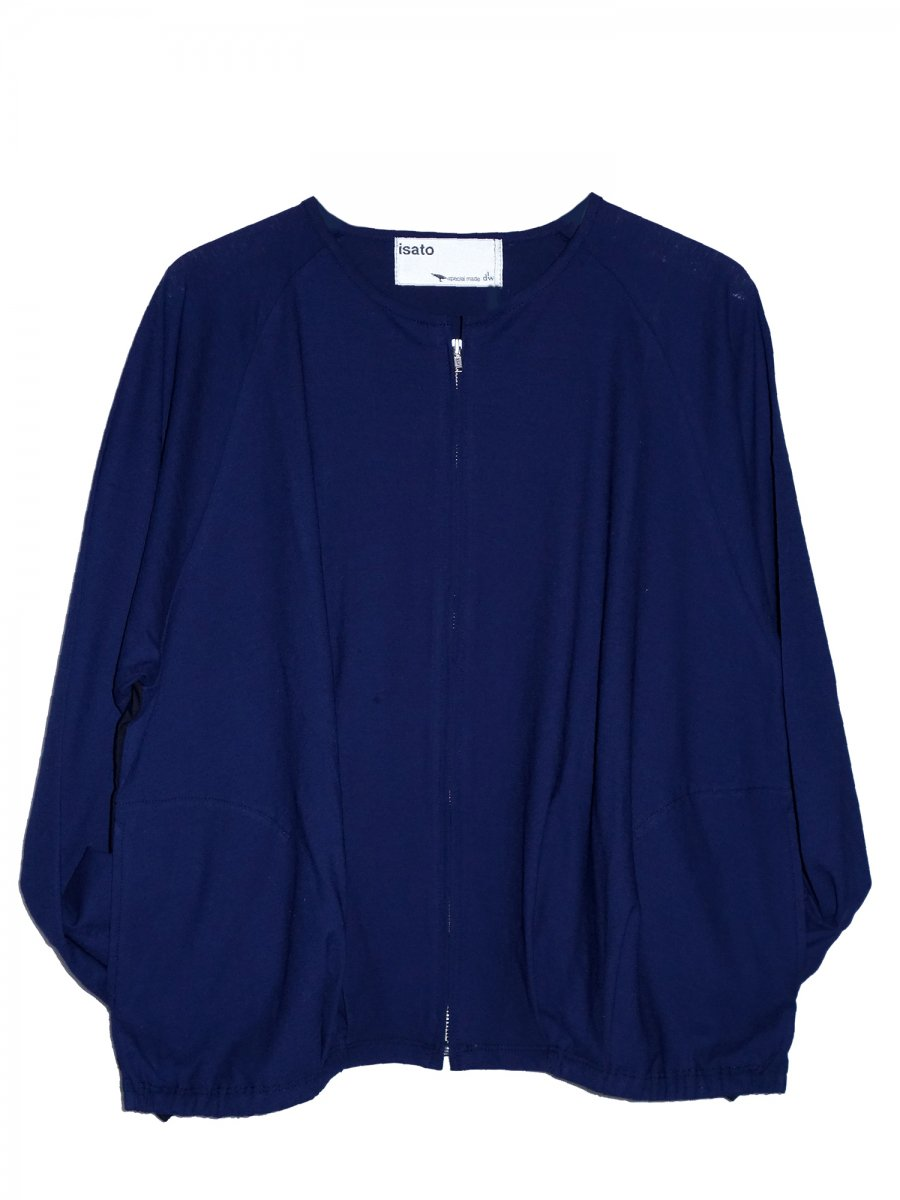 <img class='new_mark_img1' src='//img.shop-pro.jp/img/new/icons8.gif' style='border:none;display:inline;margin:0px;padding:0px;width:auto;' />【ISATO DESIGN WORKS】Side Slit Cut Blouson (Navy)