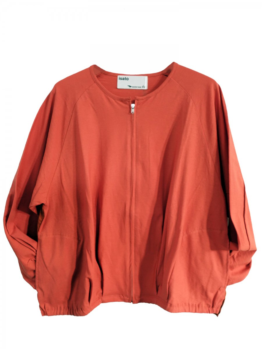 【ISATO DESIGN WORKS】Side Slit Cut Blouson (Orange)