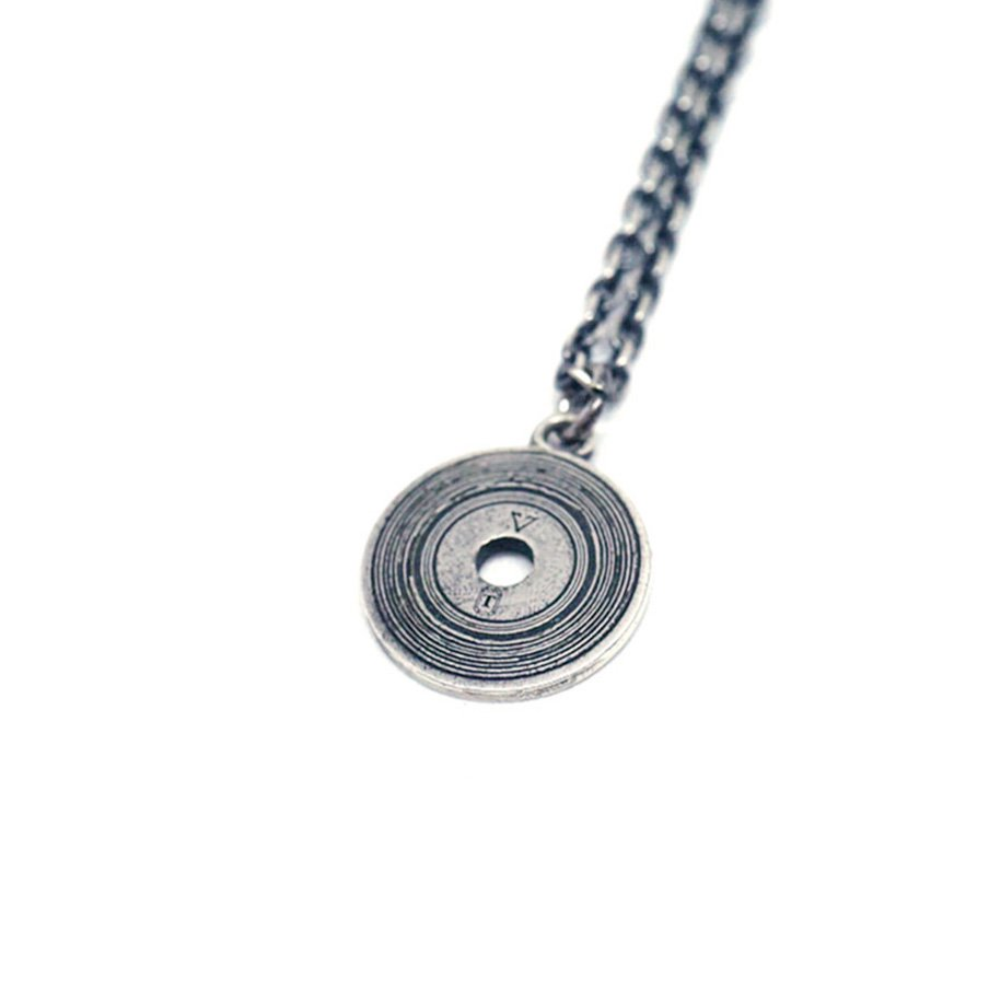 【 VARDE77 x THEFT 】RECORD NECKLACE