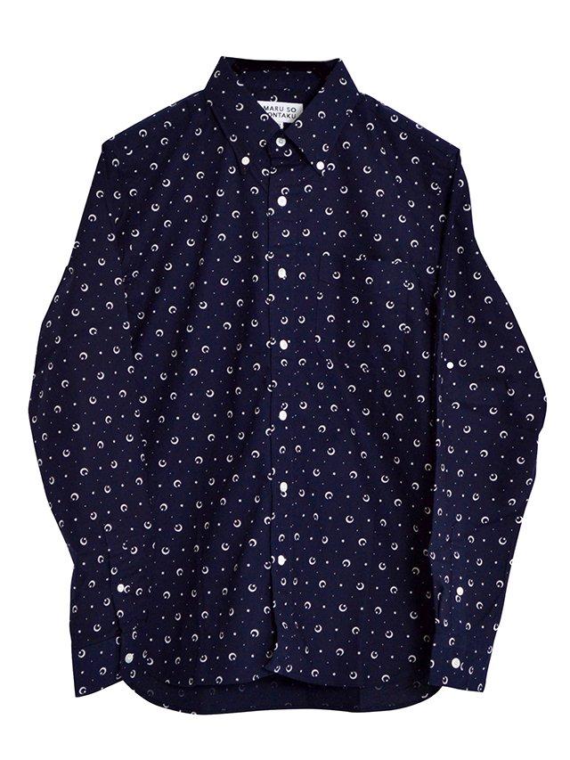 【SONTAKU/ソンタク】Original print towel BD shirt (月と星)