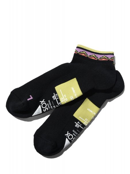 【ANDSOX】SUPPORT PILE SHORT (NATIVE BLACK PURPLE)