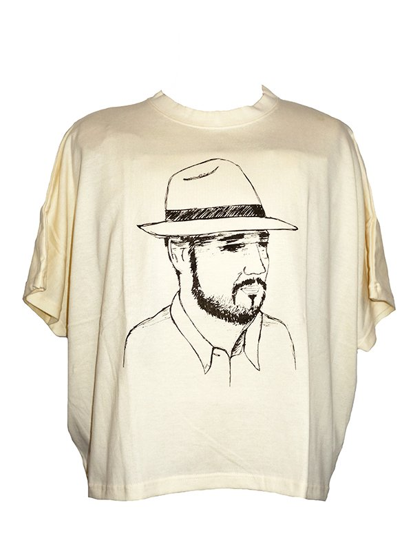 【Lilou&Lily】 40/2 COTTON DOLMAN TEE -HAT MAN-  (A.MILK)