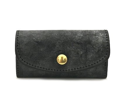 【RE.ACT】Bridle Leather Key Case (BLACK)