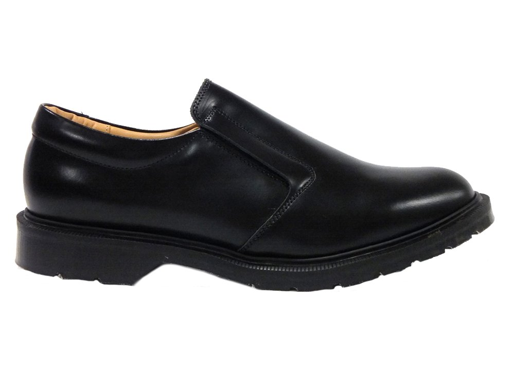 【SOLOVAIR ; ソロヴェアー】HI-SHINE SLIP-ON   (BLACK)