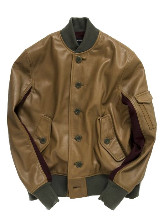 <img class='new_mark_img1' src='https://img.shop-pro.jp/img/new/icons8.gif' style='border:none;display:inline;margin:0px;padding:0px;width:auto;' />【Varde77】 ST-1 LEATHER JACKET  (KHAKI BEIGE)