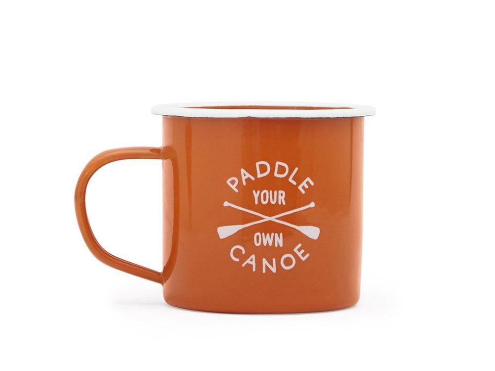 【IZOLA】Paddle Your Own Canoe Enamel Mug