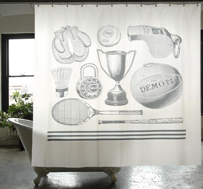 【IZOLA】Sport Canvas Shower Curtain