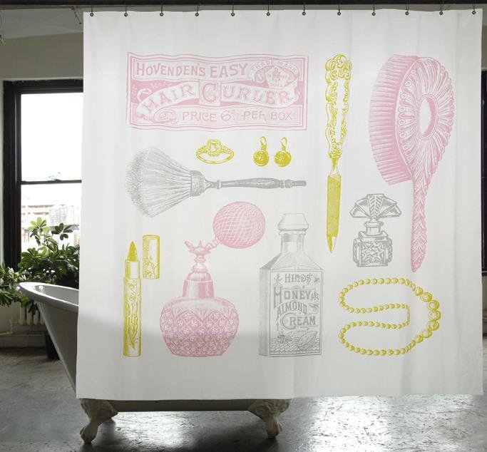 【IZOLA】Powder Room Canvas Shower Curtain