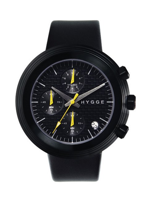 【HYGGE】MSL2312 Leather/Black dial Black case (Black)