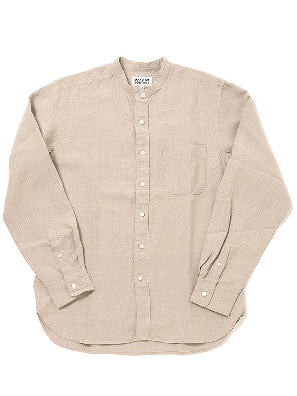 【SONTAKU:ソンタク】French linen Band-collar Shirt