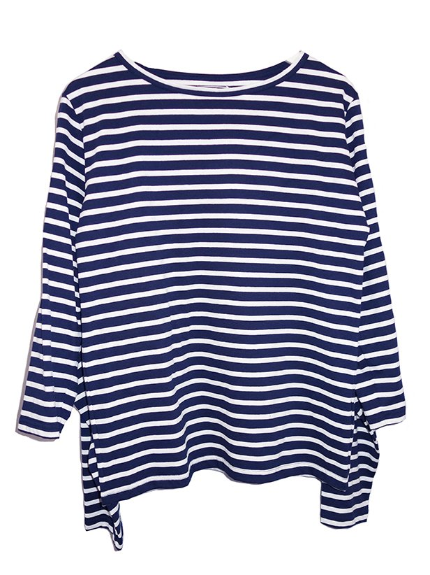 <img class='new_mark_img1' src='https://img.shop-pro.jp/img/new/icons8.gif' style='border:none;display:inline;margin:0px;padding:0px;width:auto;' />【foof】Double Sleeve Boat Neck Jersey