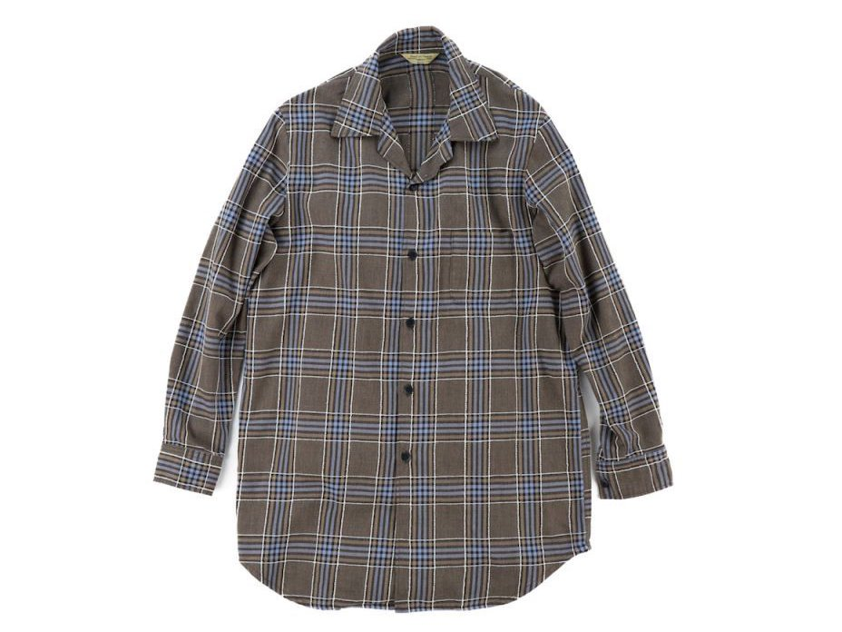 【 Varde77 】 EMBROIDERY CHECK LONG SHIRTS