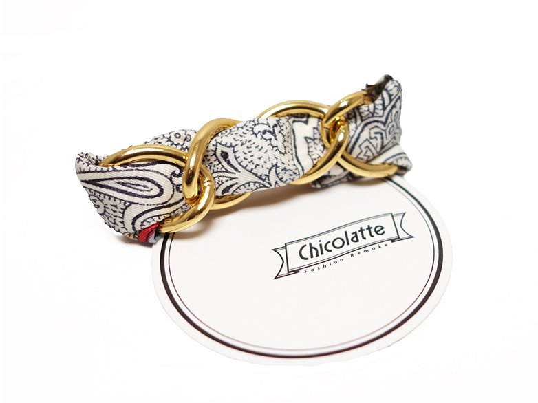 【Chicolatte】 CHAIN BARRETTE D