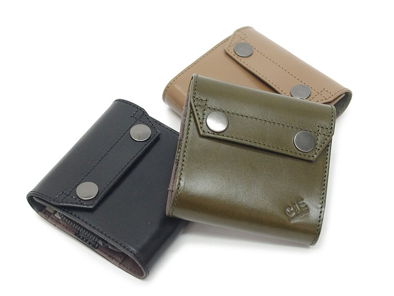 【 CIE 】LEATHER FLAP CONPACT WALLET