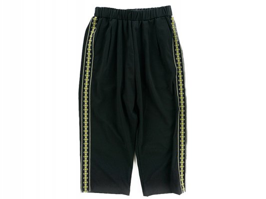 <img class='new_mark_img1' src='https://img.shop-pro.jp/img/new/icons8.gif' style='border:none;display:inline;margin:0px;padding:0px;width:auto;' />【Varde77】STICH LINE EASY PANTS BLACK