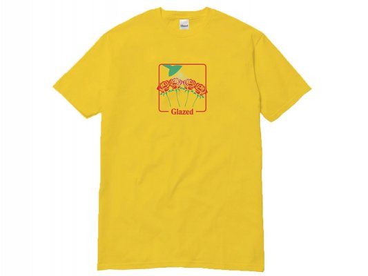 <img class='new_mark_img1' src='https://img.shop-pro.jp/img/new/icons8.gif' style='border:none;display:inline;margin:0px;padding:0px;width:auto;' />【Glazed】GARDEN T-SHIRT