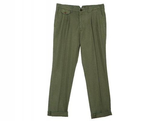【LA PAZ(ラパス)】-Palmas- Pleated pants(MILITARY GREEN)