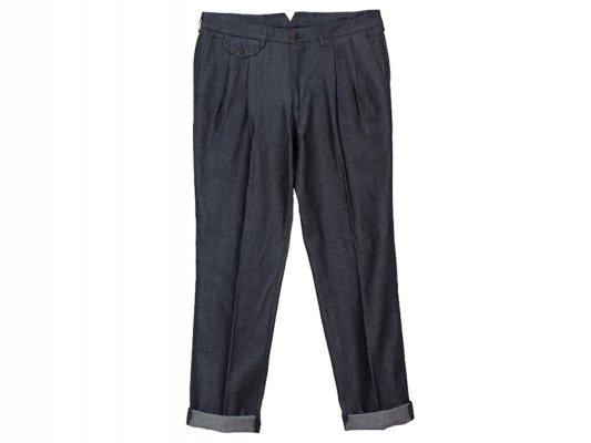 【LA PAZ(ラパス)】-Palmas- Pleated pants(NAVY DENIM)