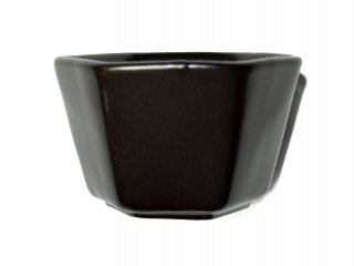 【セトヤキHEX】 小鉢 monochrome 瀬戸焼  (黒)