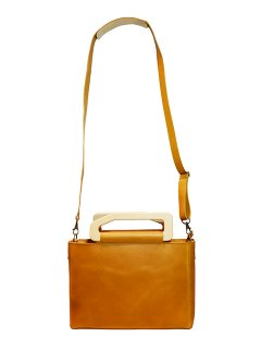 【YURUKU】 Metry Square Bag (Light Camel)
