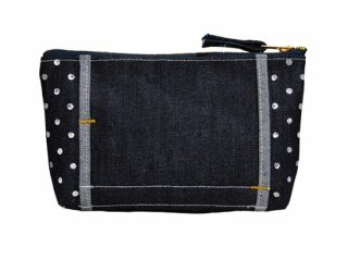 【LAYER x LAYER】 POUCH (Denim / Indigo dot)