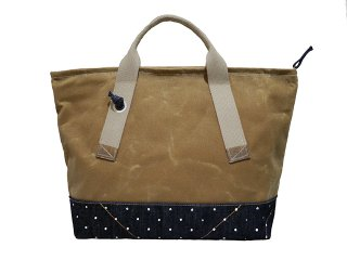 【LAYER x LAYER】 BRIMFIELD PACK (Tan / Indigo dot)