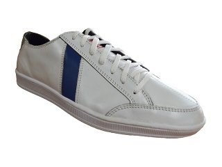 【SAWA】  LAFRICA LEATHER LOW CUT SNEAKER  (WHITE / SKY BLUE)