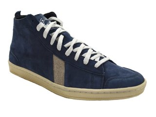 【SAWA】  HIGHCUT SUEDE SHOES  (BLUE / WHITE)