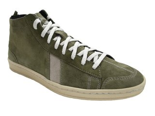 【SAWA】  HIGHCUT SUEDE SHOES  (GREY / WHITE)