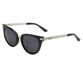 【 SABRE 】 SUNGLASS -HEATWAVE- (Black Acetate / Silver / Grey)