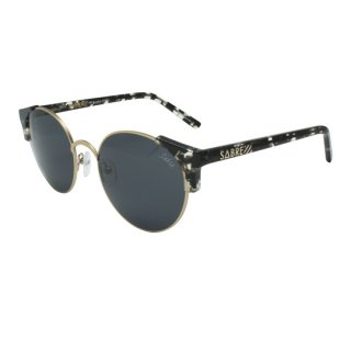 【 SABRE 】 SUNGLASS -SHEENA- (Black Tortoise / Shiny Gold / Grey)