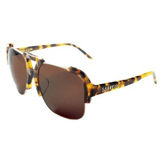 【 SABRE 】 SUNGLASS -SKELETON- (Camel Tort / Gold / Bronze)