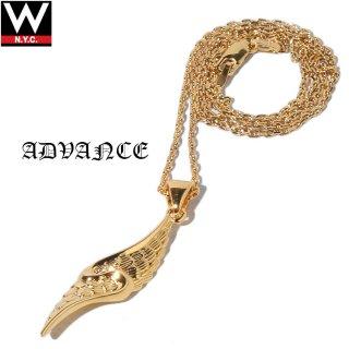 ADVANCE(アドバンス) 925 シルバー ゴールド コーティング フェザー チェーン ネックレス