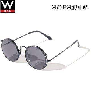 ADVANCE(アドバンス) フリップアップ ラウンド フレーム サングラス メガネ