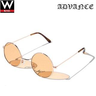 ADVANCE(アドバンス) ラウンド フレーム サングラス メガネ