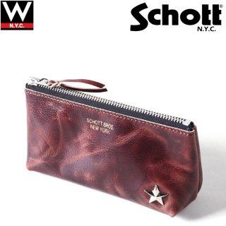 Schott(ショット) レザー ポーチ ケース 小物入れ