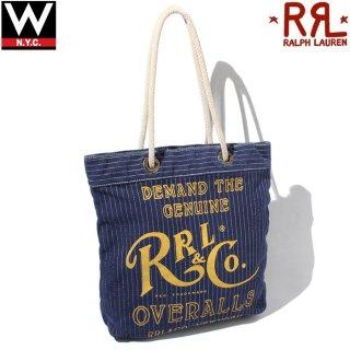 RRL(ダブルアールエル) ビンテージ プリント キャンバス トートバッグ