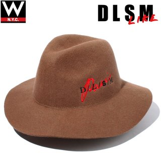 DLSM(ディーエルエスエム) パリス ロゴ ワイドブリムハット