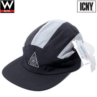 ICNY(アイシーエヌワイ) ビション 6パネル ストラップバック キャップ