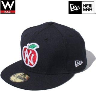 NEW ERA(ニューエラ) アップル ニューヨークヤンキース フィフティナインフィフティー ベースボールキャップ