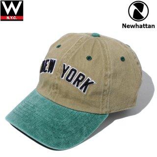 NEWHATTAN(ニューハッタン) ニューヨーク ロゴ コットン ストラップバックキャップ
