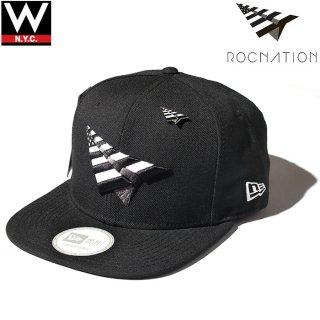 ROCNATION(ロックネーション) × THE CROWN NEW ERA(ニューエラー) オリジナルロゴ デザイン スナップバックキャップ