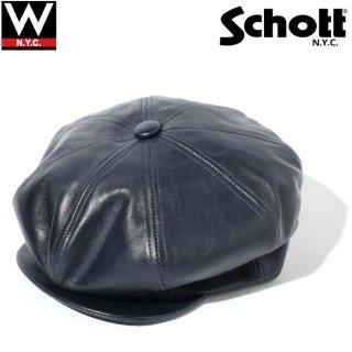 Schott(ショット) ラムスキン ニュースボーイ キャスケット
