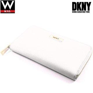 DKNY(ダナキャラン) レザー ラウンドファスナー ロング ウォレット 長財布