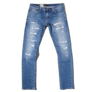 Nudie Jeans(ヌーディージーンズ) ロングジョーン ベン レプリカ クラッシュ デニムパンツ