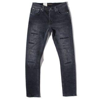 Nudie Jeans(ヌーディージーンズ) リーン ディーン ディープ ブラック ヲーン クラッシュ デニムパンツ