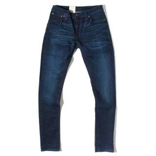 Nudie Jeans(ヌーディージーンズ) スキニーリン ネイビー ステッチ デニムパンツ